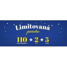 Limitovaná ponuka - 110 programov na 2 TV za 5 €